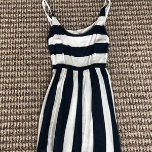 Abercrombie and Fitch navy & white striped dress